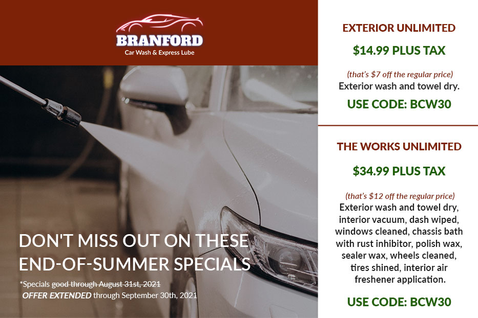 Branford Car Wash Special
